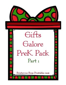 Christmas Gifts Galore PreK Printable Pack - Part 1