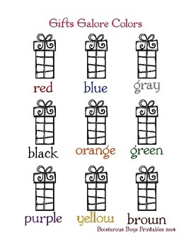 Christmas Gifts Galore Prek Printable Pack Part 1 By Boisterous Boys