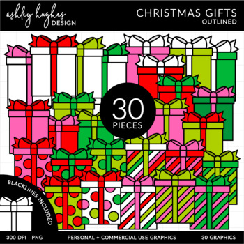 Christmas Gifts Clipart {A Hughes Design}