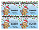 Christmas Gifts - Homework Pass, Bookmark, Gum Pass Editable
