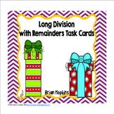 Christmas Gifts Long Division With Remainders Task Cards