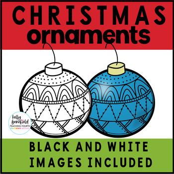 Christmas Ornaments Clipart Freebie