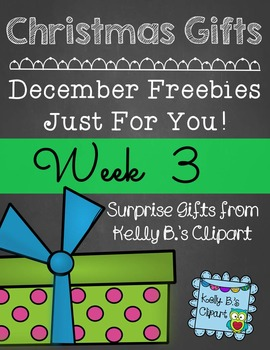 Christmas Gifts Week 3: Free Clipart