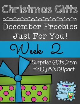 Christmas Gifts Week 2: Free Clipart
