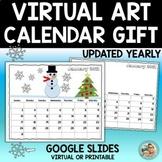 Christmas Gifts for Parents ART Calendar   Digital Google Slides