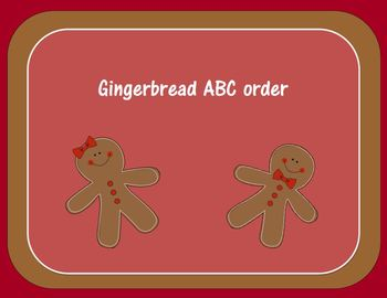 Christmas Gingerbread ABC Order