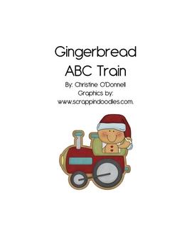 Christmas Gingerbread ABC Train