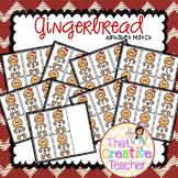 Christmas Gingerbread Alphabet Activity