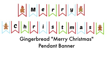 Christmas Gingerbread Banner