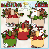 Christmas Gingerbread Baskets Clip Art - Christmas Clip Ar
