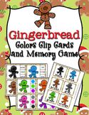 Christmas Gingerbread Color Match Clip Cards and Memory Game