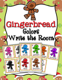 Christmas Gingerbread Colors Write the Room Activity
