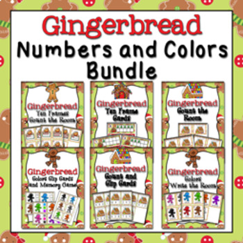 Christmas Gingerbread Colors and Numbers Bundle