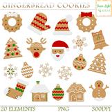 Christmas Gingerbread Cookies Clipart, Christmas Clip Art,