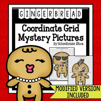 Christmas Coordinate Graphing Mystery Pictures (5th - 9th)