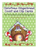Christmas Gingerbread Count and Clip Cards with Matching a