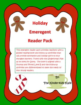 Christmas Gingerbread Emergent Reader Pack