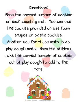 Christmas Gingerbread House Counting Mats