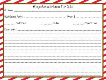 Creative Writing Christmas Gingerbread House