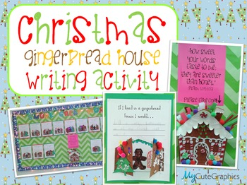 Christmas Gingerbread House Writing Activity