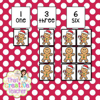 Christmas Gingerbread Letter& Number Pack
