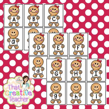 Christmas Gingerbread Letter& Number Pack