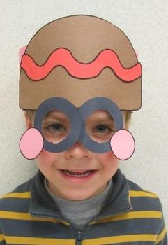Christmas Gingerbread Man Sentence Strip Mask
