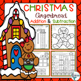 Christmas Gingerbread Math Addition and Subtraction Packet