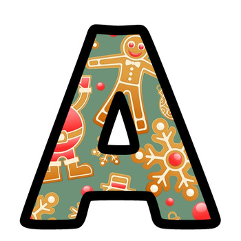 Christmas Gingerbread Men Bulletin Board Letters And Numbers Clip Art