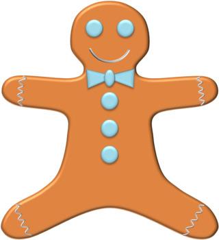Christmas Gingerbread Men Clipart