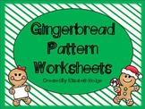 Christmas Gingerbread Patterns- FREEBIE!