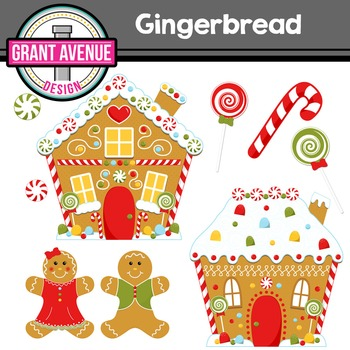 Christmas Gingerbread People Clipart