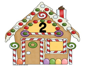 Christmas Gingerbread Syllables Center/Game Sort!