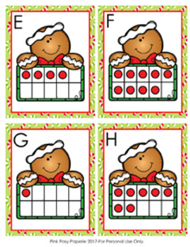 Christmas Gingerbread Ten Frames Count the Room