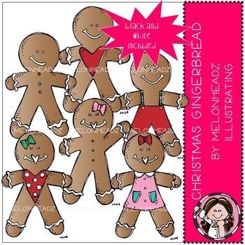 Christmas Gingerbread clip art - Mini - Melonheadz Clipart