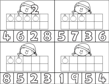 Christmas Girl Clip Card/Number Recognition