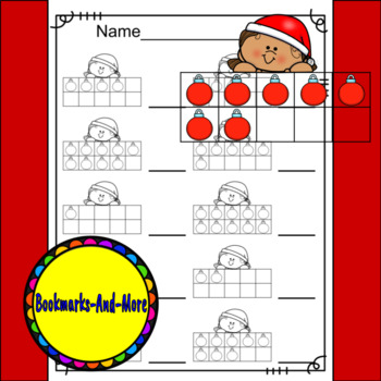 Christmas Girl Ten Frames/Number Recognition