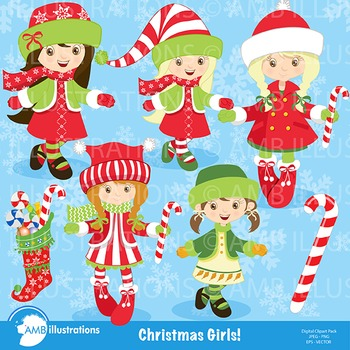 Christmas Girls Cliparts AMB-189