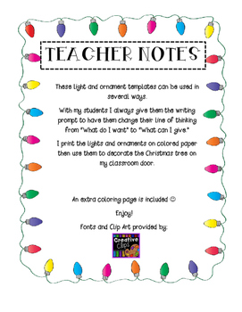 Christmas Giving Writing Activity and Bulletin Board Idea