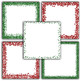Christmas Glitter Digital Paper Pack - Red and Green Borders - 16 Papers - 12x12
