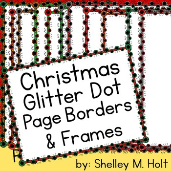 Christmas Glitter Page Borders / Frames