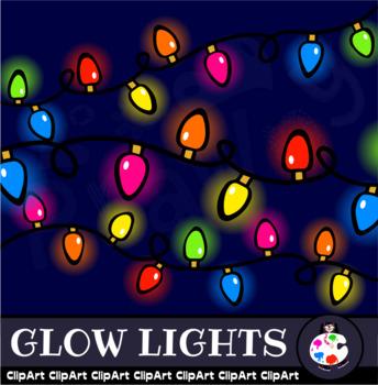Christmas Glow Lights - Festive Holiday Clip Art