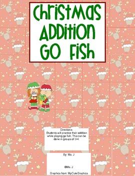 Christmas Go Fish Addition