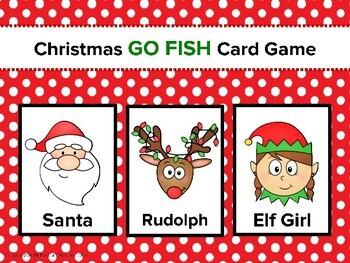 Christmas Go Fish Card Game, Preschool Christmas, Kindergarten Christmas