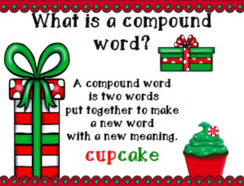 "Christmas ""Go Fish"" Compound Words"