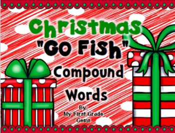"""Christmas """"Go Fish"""" Compound Words"""