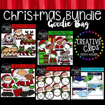 Christmas Clipart Goodie Bag {Creative Clips Clipart}