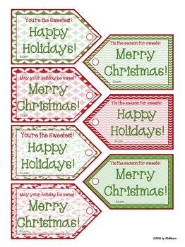 Christmas Goodie Bag Tags FREEBIE!