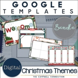 Christmas Google Slides Template Bundle | Editable | Dista