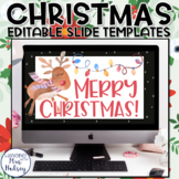 Christmas Google Slides Templates Distance Learning